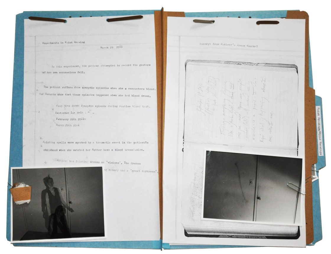 'Faint Drawings' Folder by Crystal Dyer