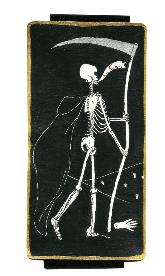 Dyer Tarot Death Saturn by Crystal Dyer Tarot Cards Hand painted