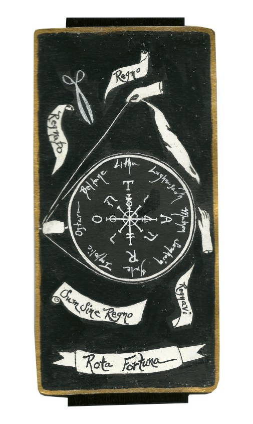 Dyer Tarot Wheel of Fortune Capricorn by Crystal Dyer Tarot Cards Hand painted