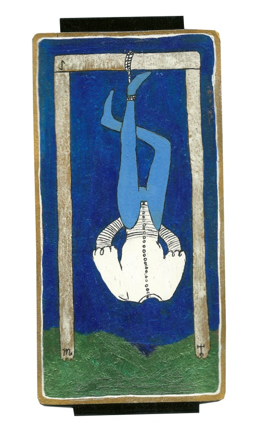 Dyer Tarot the Hanged Man Uranus by Crystal Dyer Tarot Cards Hand painted