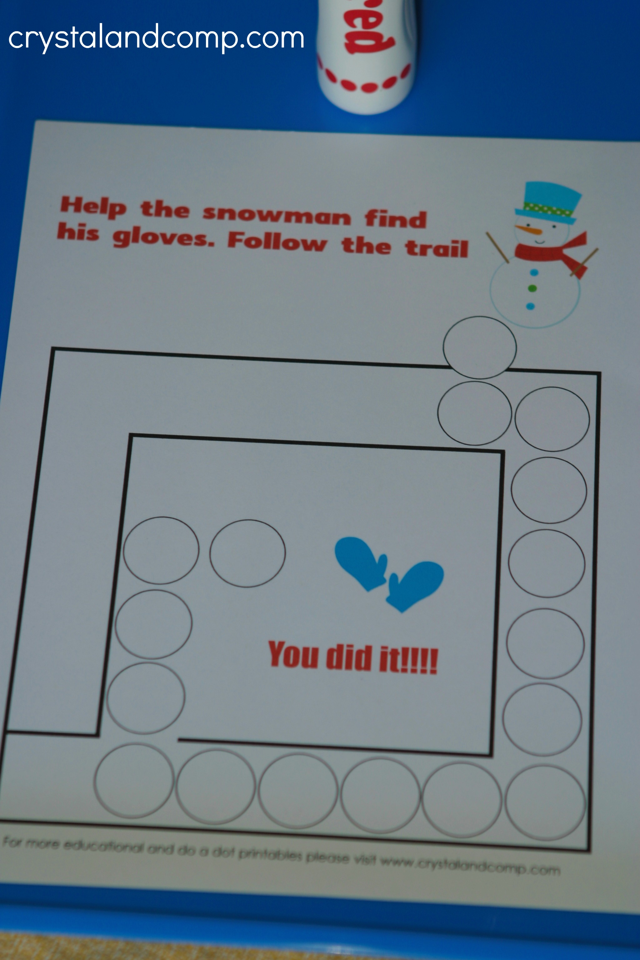 Snowman Do A Dot Printables For Preschoolers