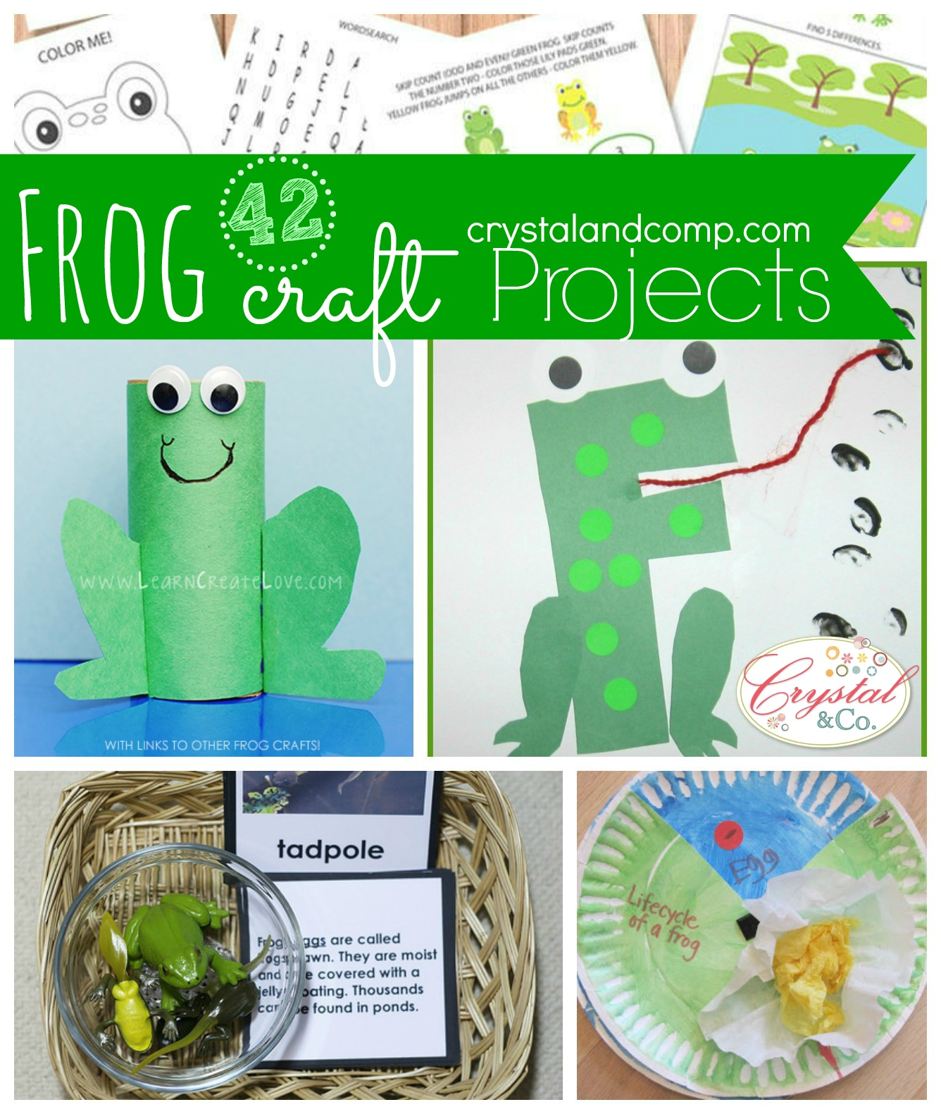 42 Frog Craft Projects