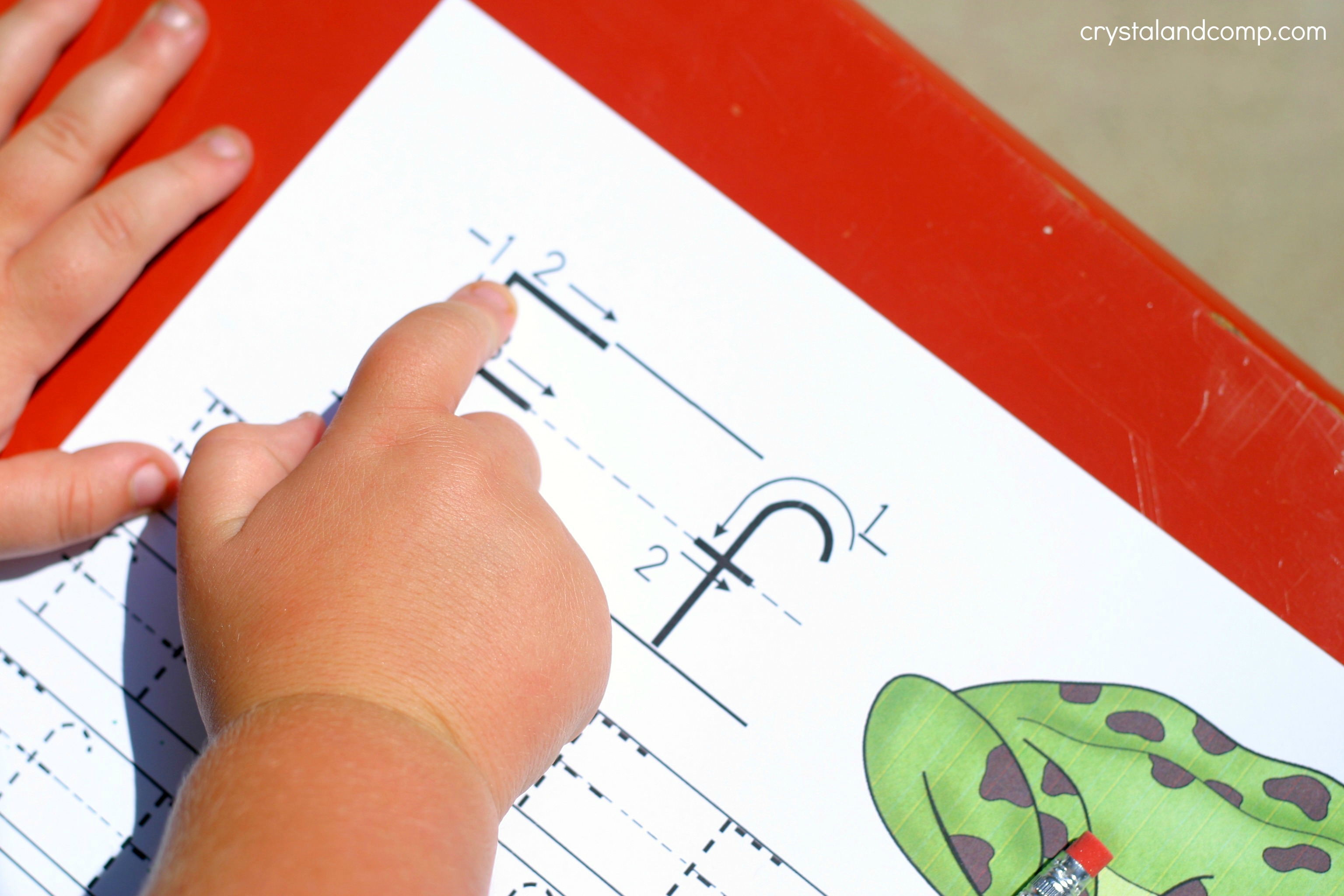 Handwriting Practice For Kids F Is For Frog