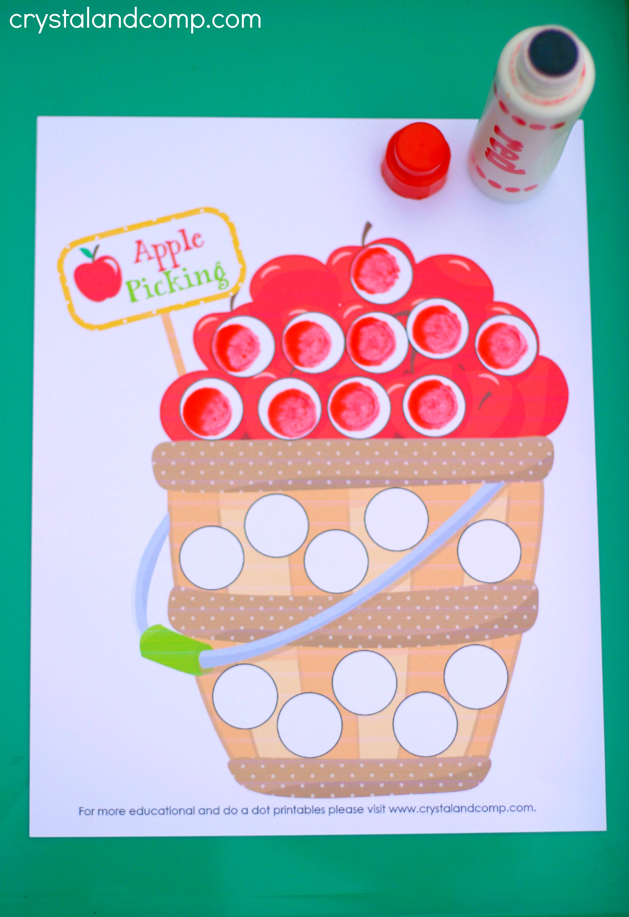 A Is For Apple Preschool Worksheets
