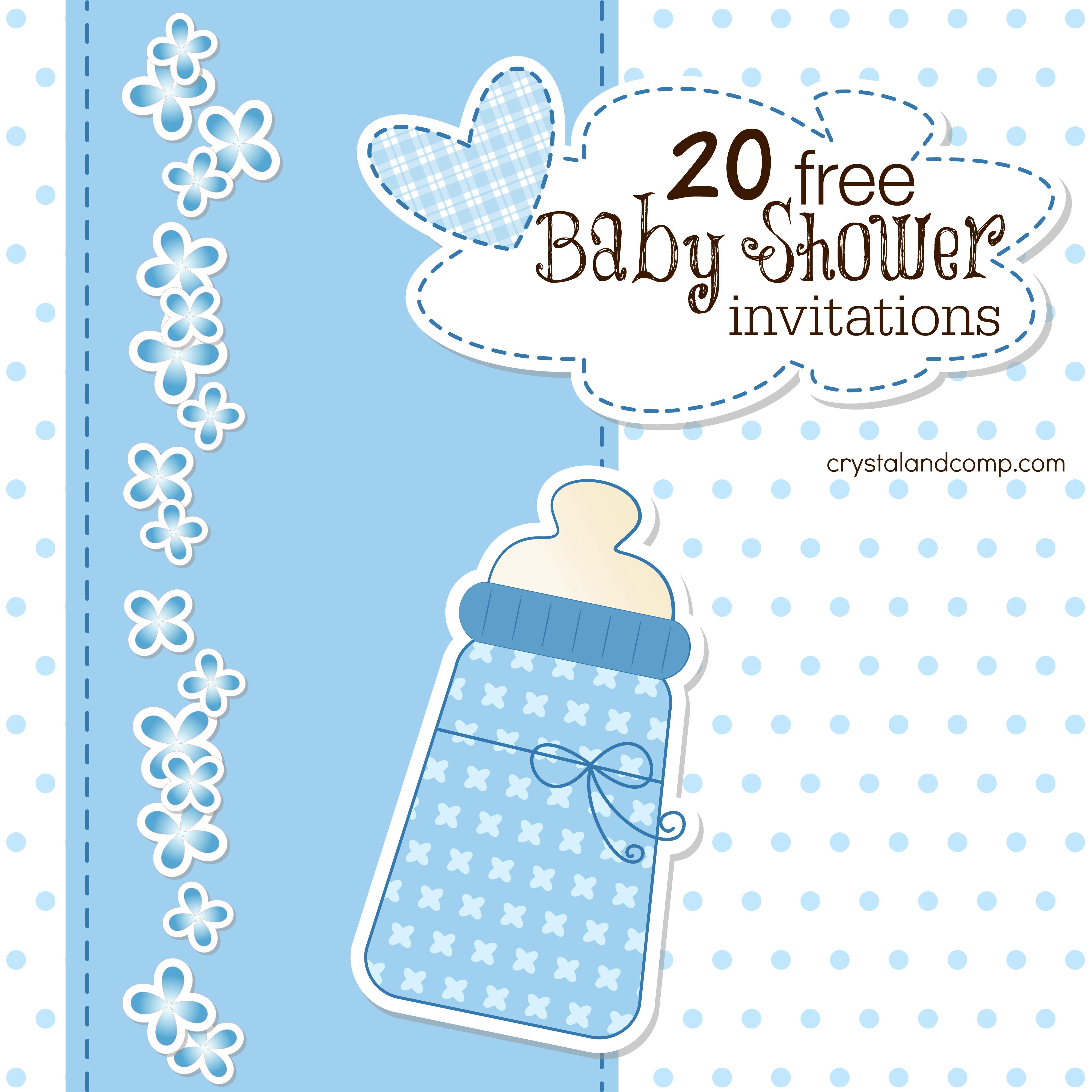 20 Free Baby Shower Invites
