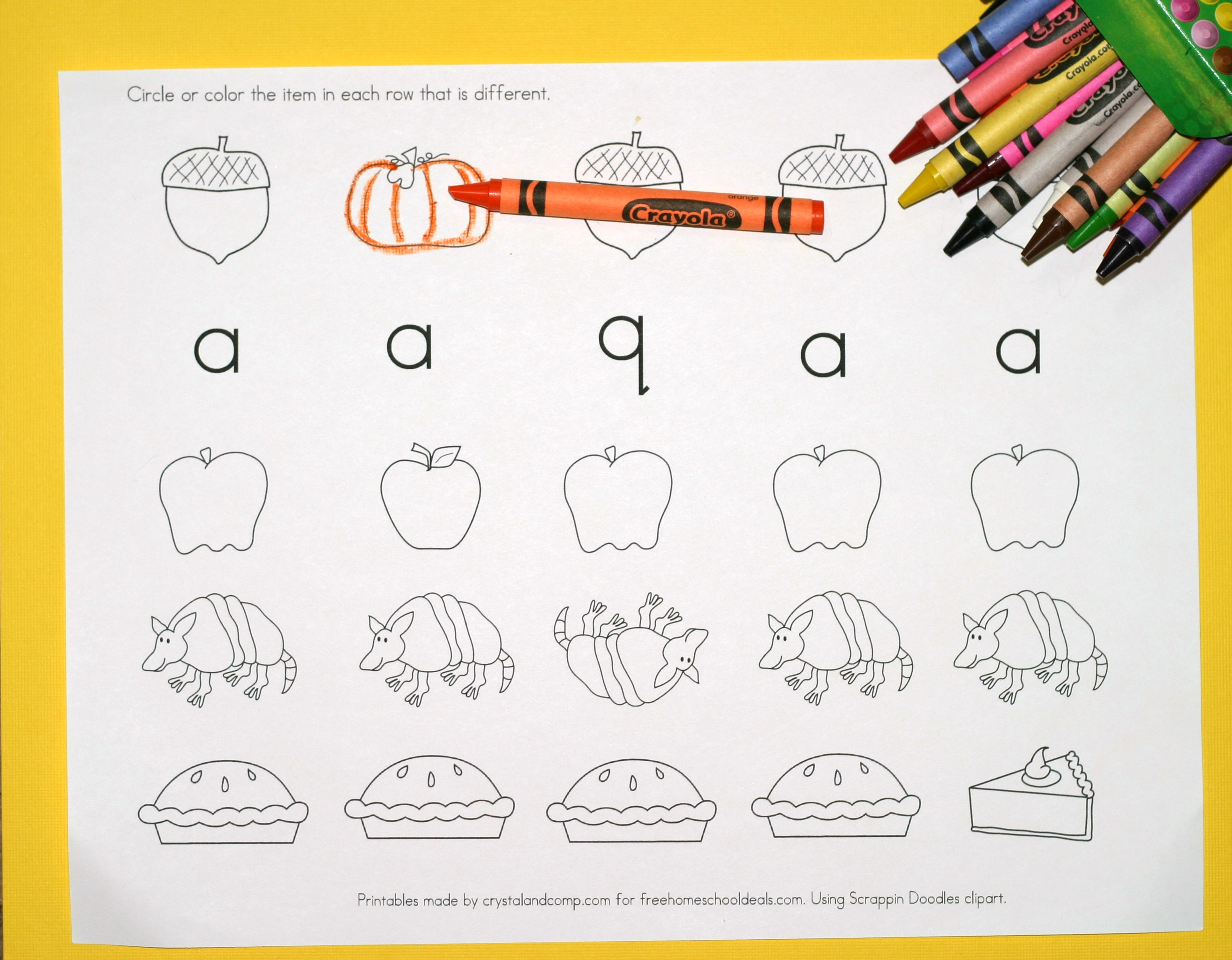 Free Instant Download Printable Alphabet Worksheets Letter A