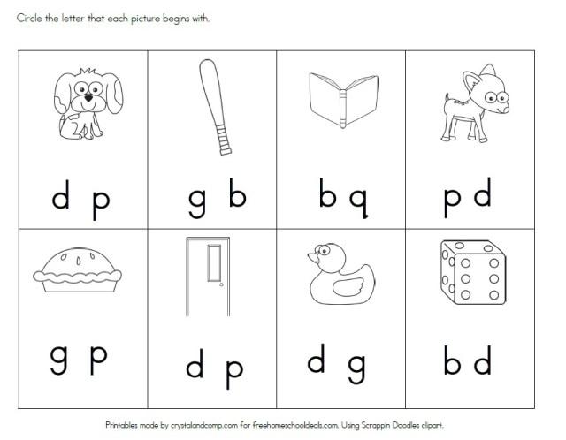 Free Letter D Worksheets Instant