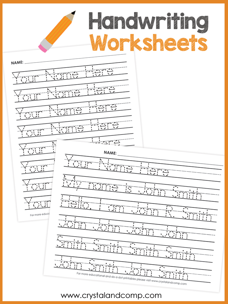 Name Handwriting Worksheets