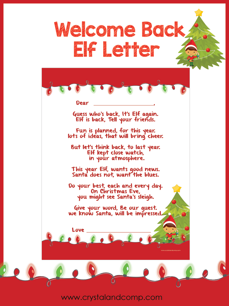 printable classroom letters elf shelf arrival