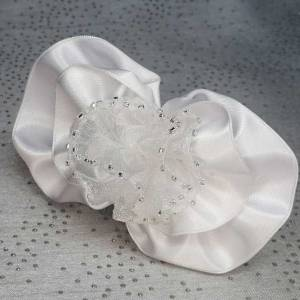White Bridal Hair Comb 9cm Anna