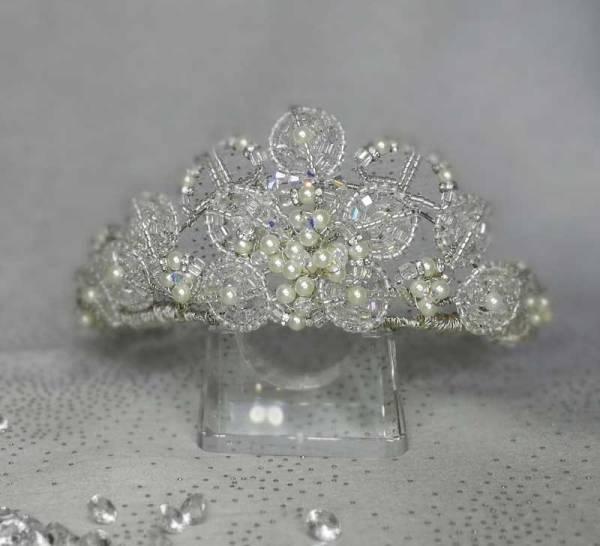 Crystal and Pearls Wedding Tiara
