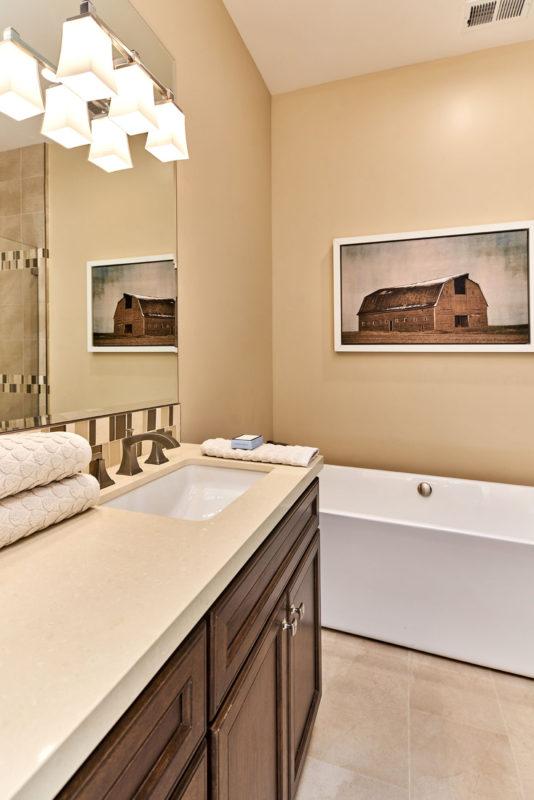 chocolate brown bathroom vanity