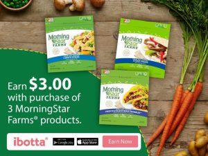 Earn $3 On MorningStar Farms® From Ibotta! #DailyVegolutions