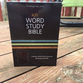 Thomas Nelson's KJV Word Study Bible Review