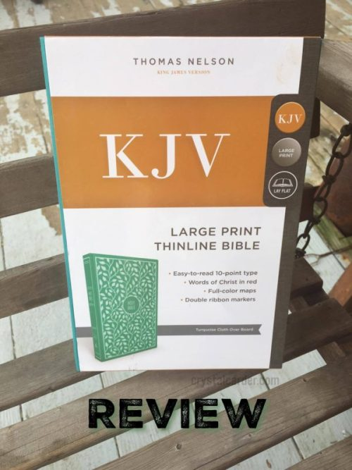 KJV Large Print Cloth Board Bible Review
