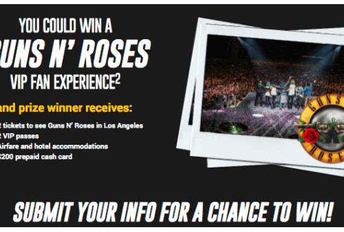 Win Guns n' Roses VIP Experience