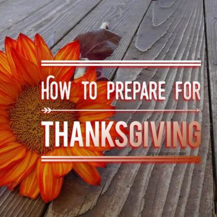 How to Prepare for Thanksgiving