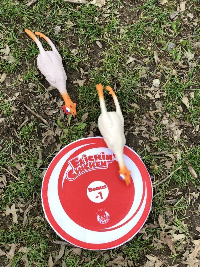 ad A Fun Game for the Whole Family, the Flickin' Chicken Game from Haywire Group