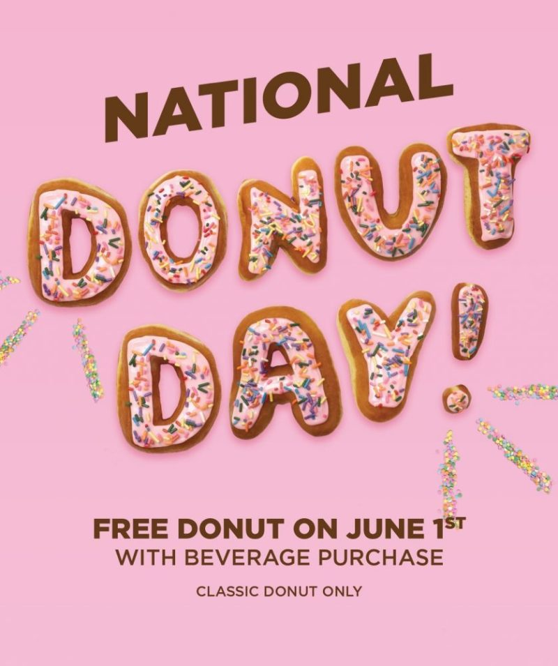 Get a Free Donut Today for #NationalDonutDay at Dunkin' Donuts