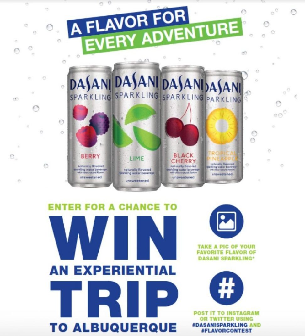 DASANI Sparkling adventure sweepstakes: Win a Trip 76
