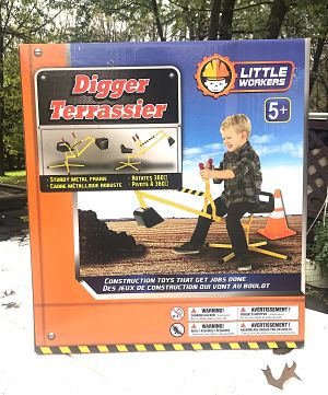 PlaSmart Little Workers Digger Ride-on Toy With Giveaway