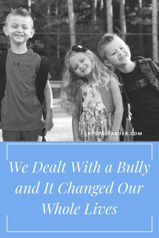 our story of a real bully and how it changed our whole family's life
