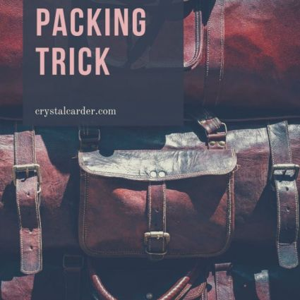 easiest packing tip ever