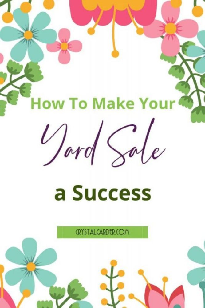 How to make your yard sale