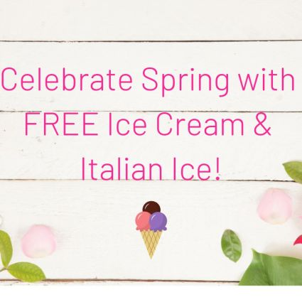 Free ice cream for first day of spring
