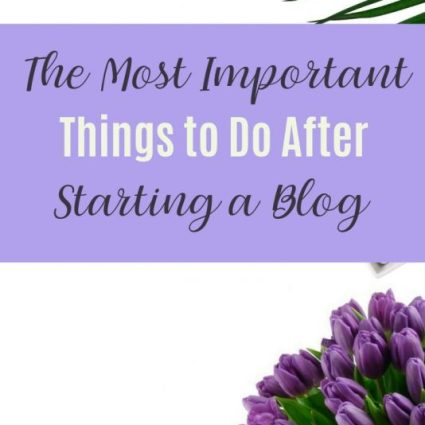 the most important things to do after starting a blog