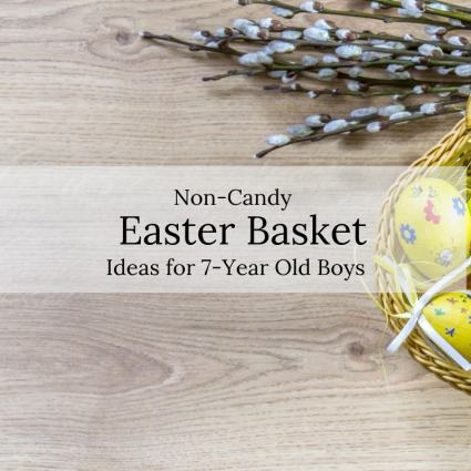 Non-candy easter basket ideas for 7-year old boys
