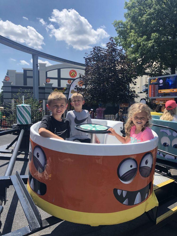 A Kiddie Ride at Hershey park in Hershey PA