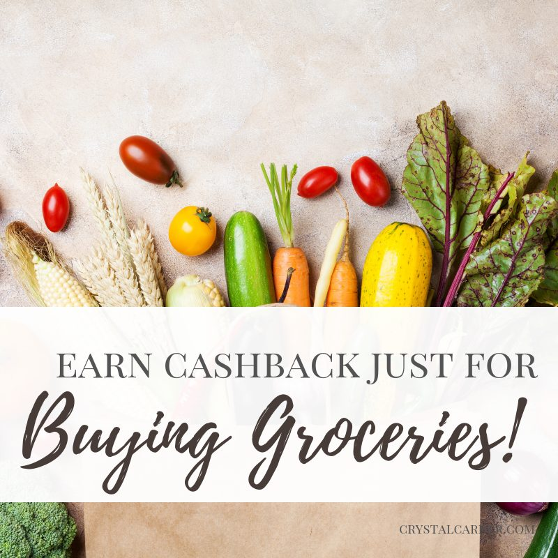 Earn cash back just for buying groceries
