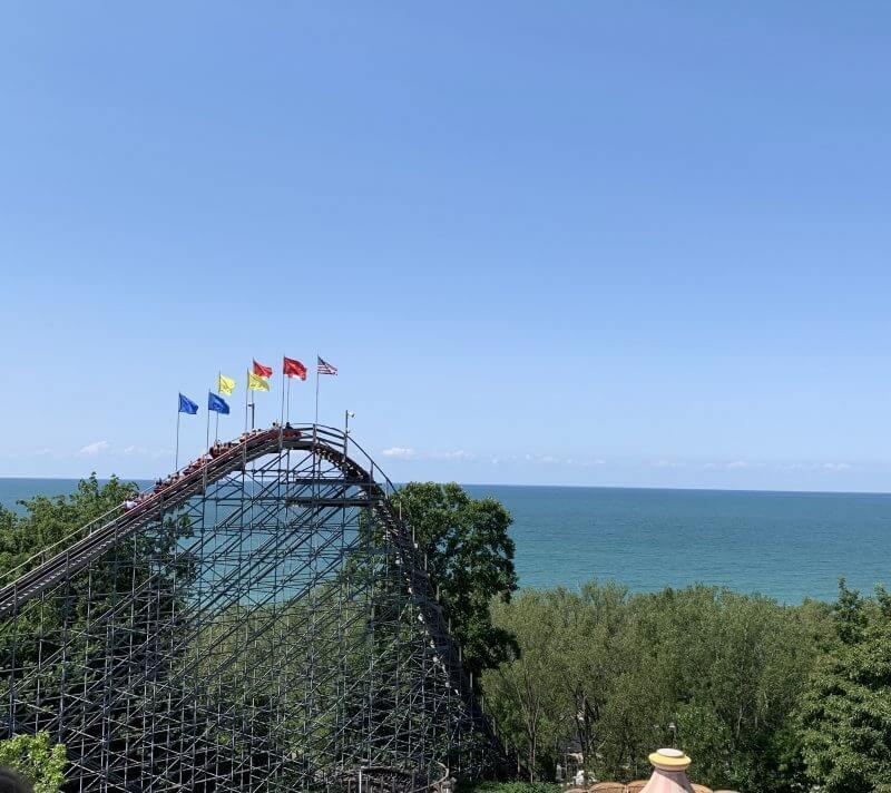 View of Lake Erie from Waldameer