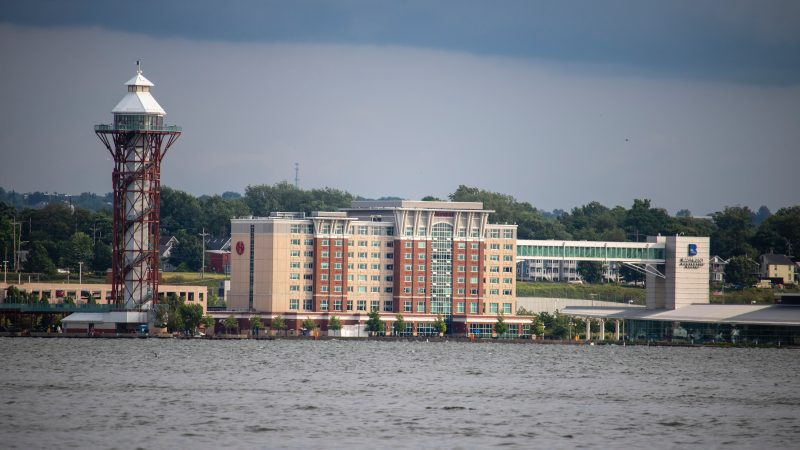 Sheraton Erie Bayfront hotel from the bay
