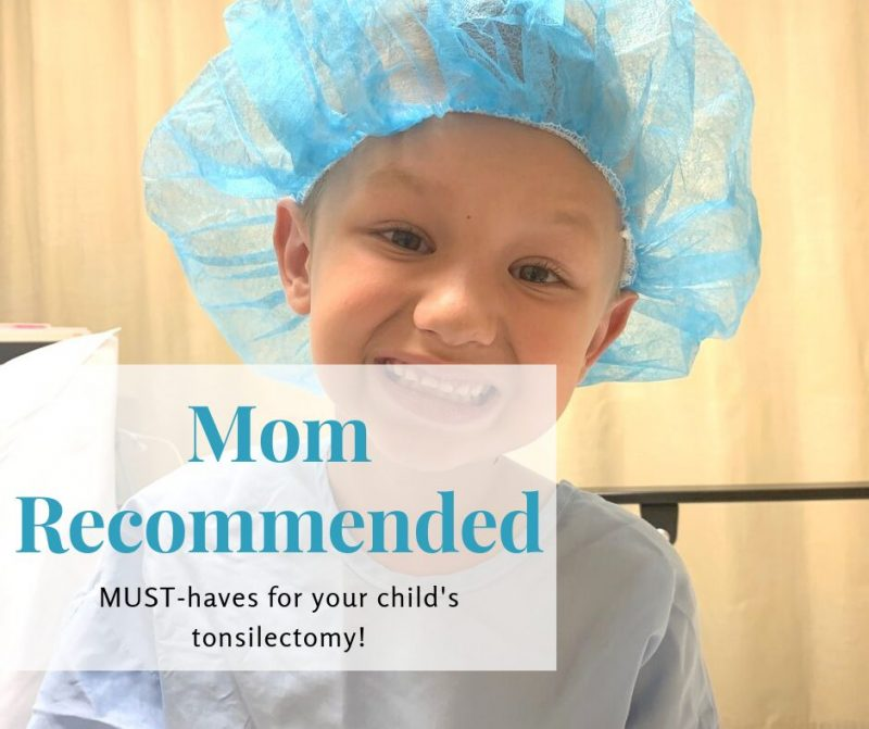 Mom-Recommended Items for a Child's Tonsilectomy