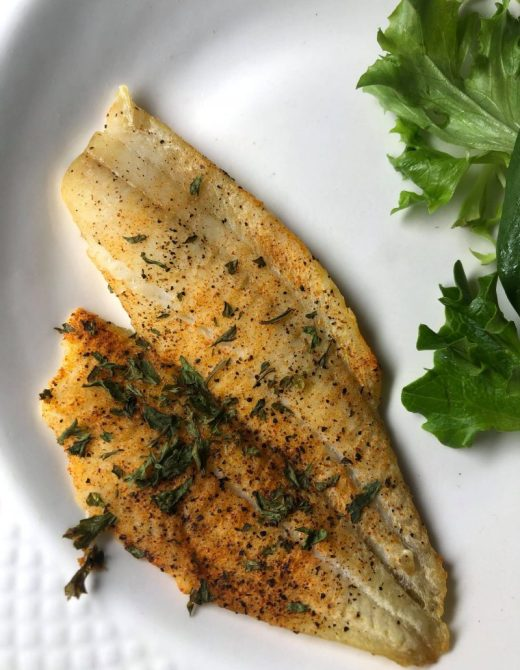 simple Oven Baked Flounder with Lemon and Herb Recipe