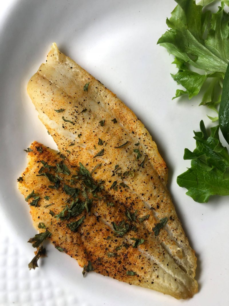 Easy Oven Baked Flounder with Lemon and Herb Recipe