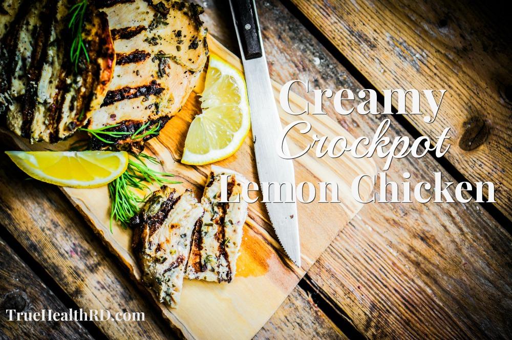 Creamy Crockpot Lemon Chicken Paleo Clean