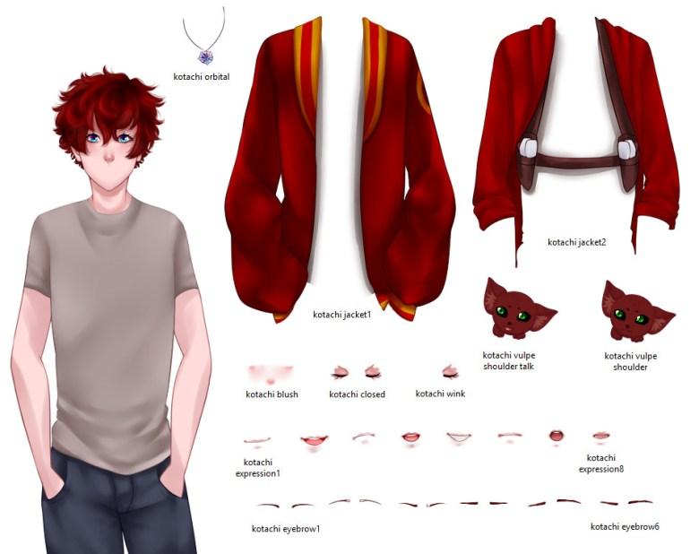 Kotachi's visual novel sprite layout