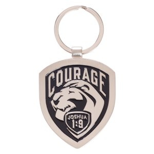 Courage (Metal Keyring)