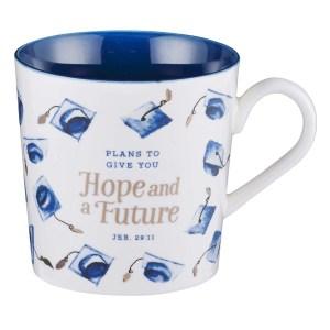 Jeremiah 29:11 Plans To Give You Hope & A Future Blue (Ceramic Mug)