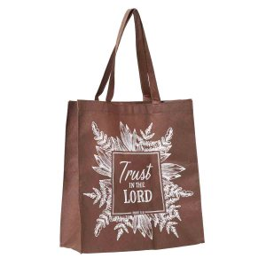 Proverbs 3:5 Trust In The Lord Brown (Non-Woven Polypropylene Tote Bag)
