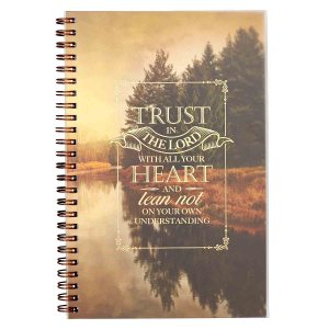 Trust In The Lord With All Your Heart (Wirebound PVC Notebook)