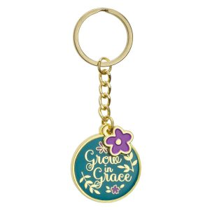 Grow In Grace (Metal Keyring)