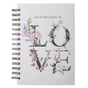 Do Everything In Love White (Large Wirebound Journal)