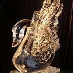 Swan Ice Sculpture Los Angeles