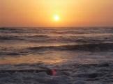 Sunset at Orange House Sea Turtle Reserve in Mansourri.