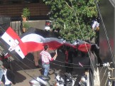 One of the weekly protests at the Syrian embassy that happened right outside my bedroom window...a pleasant welcome.