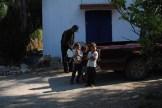 The family who farms the land around Orange House.